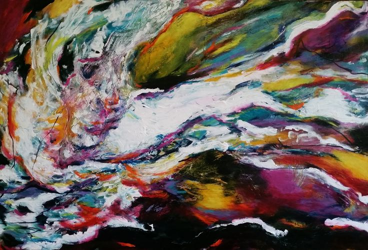 """""""Confluent"""" by Debra Dougherty. Paintings for Sale. Bluethumb - Online Art Gallery"""