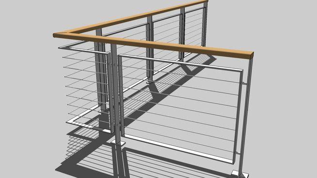 Iron railings 3d warehouse sketchup pinterest for Sketchup deck design