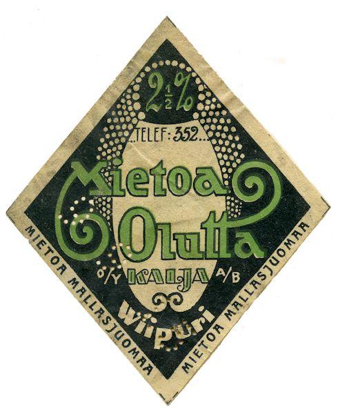 Mietoa Olutta Wiipuri #olut #etiketit #beer #labels