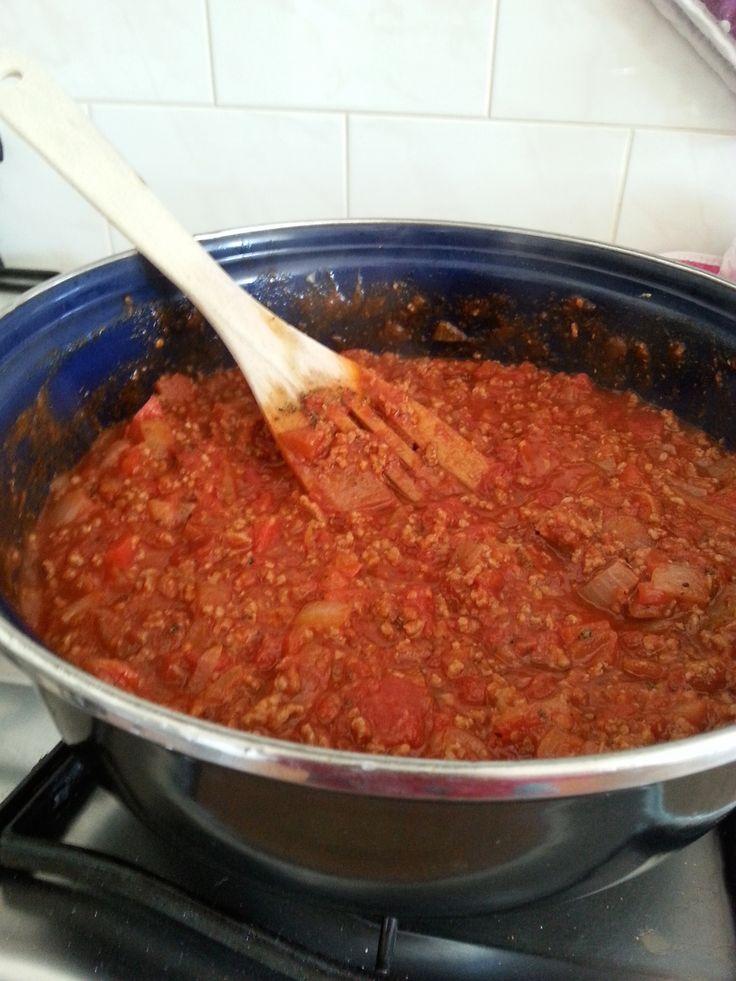 Zelfgemaakte spaghettisaus