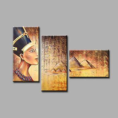 【今だけ☆送料無料】 アートパネル  人物画3枚で1セット 古代 エジプト ピラミッド 景色【納期】お取り寄せ2~3週間前後で発送予定