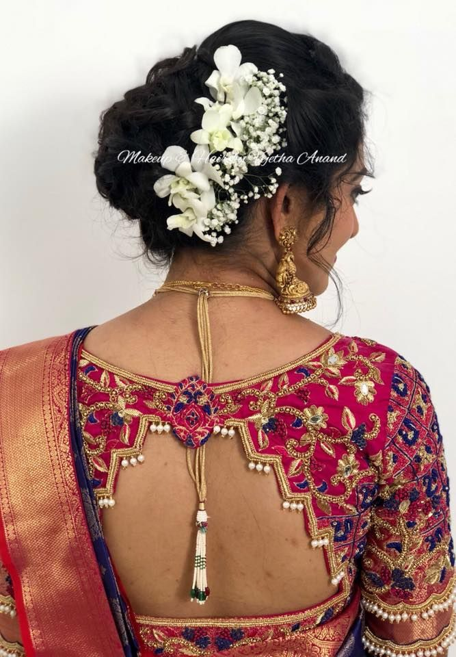 Gorgeous Indian bridal hairstyle by Vejetha for Swank ...
