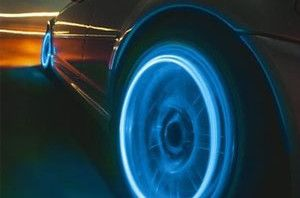 Motion Activated Blue Led Wheel Lights For Bikes And Cars, led light, car light