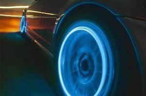 Motion Activated Blue Led Wheel Lights For Bikes And Cars, led light, car light