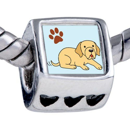 Pandora Style Bead Yellow Labrador Dog Beads Fits Pandora Bracelet Pugster. $12.49. Note: Snake chain is not included. Metal: base metal. Bead Size (mm): 7.25mm*8.02mm*8.94mm. Weight (gram): 2.75