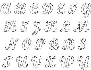 Blog do passo a passo: molde de letras maiúsculas                              …