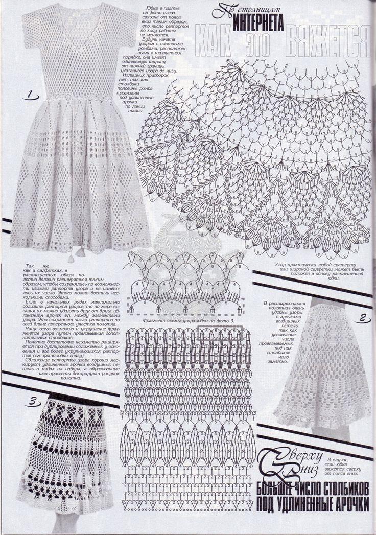 564 best Diagrama vestidos images on Pinterest | Häkelkleider ...