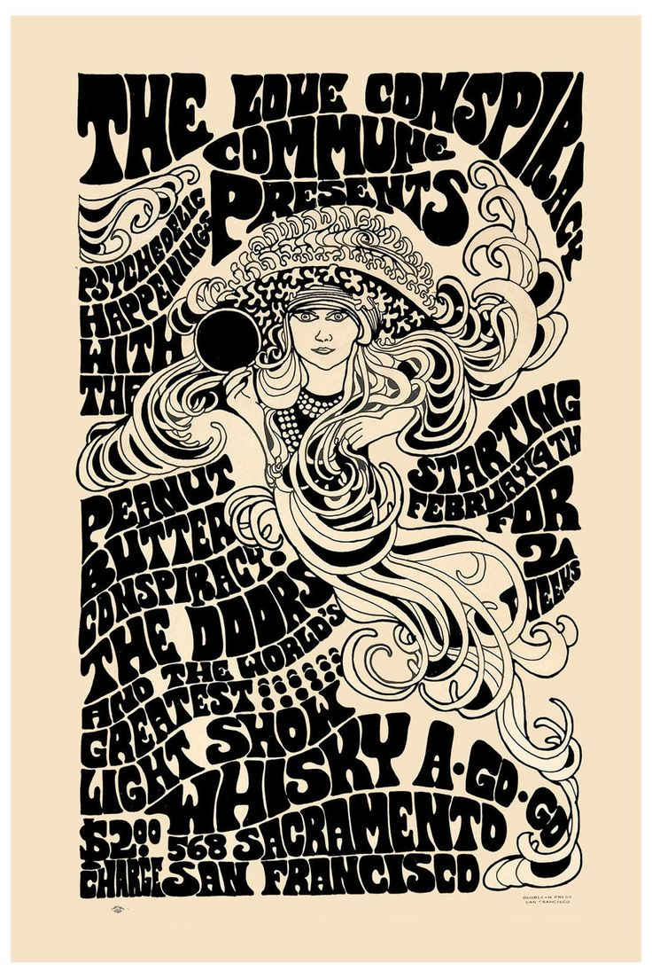 Concert Poster The Doors - Whisky a Go Go - Lá do início da carreira deles, muito bom.