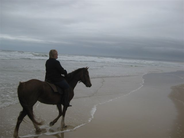 Horseback riding on the Ocean in Jeffrey's Bay South Africa.  :)