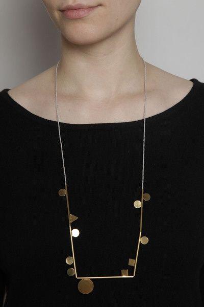 Totokaelo - Samma - Shapely Necklace - Brass