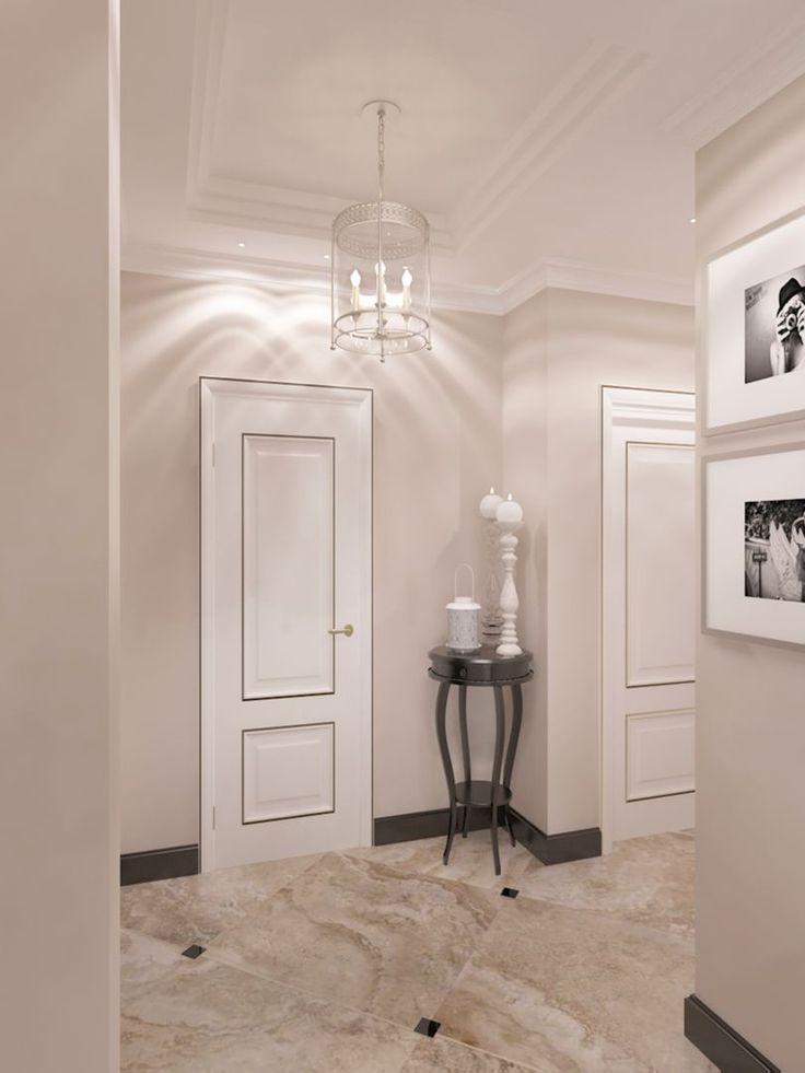 Фото Дизайн прихожей. Квартира в Ялте. - дизайн интерьера, Прихожая, Холл, Вестибюль, Фойе, Квартира, Дом, Неоклассика, 0 - 10 м2