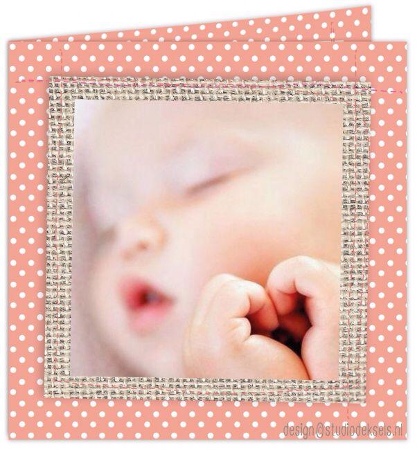 Studio Deksels • geboortekaartjes • foto • newborn shoot • canvas • jute • dots • stipjes
