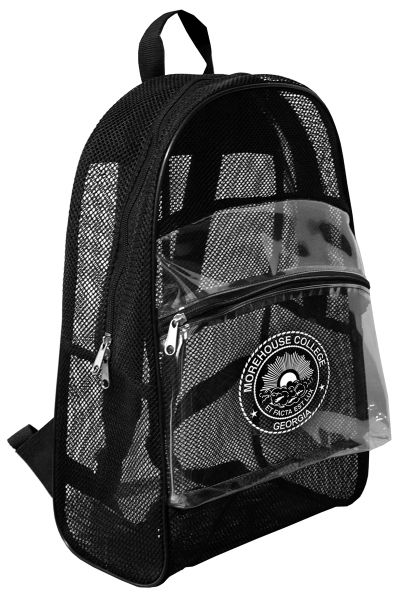 Personalize This Clear Vinyl Mesh Backpack With Your Logo