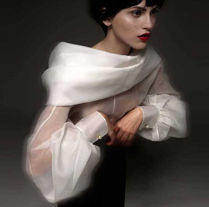 Gianfranco Ferre, blouse blanc. L'a excellence
