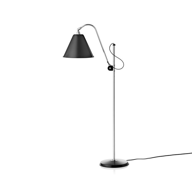 Bestlite BL3 Original golvlampa - Bestlite BL3 Original golvlampa - svart matt, kromstativ