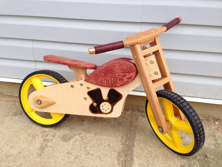 Wooden push bike.  http://makeperday.blogspot.com/2013/05/project-69-wooden-balance-bike.html
