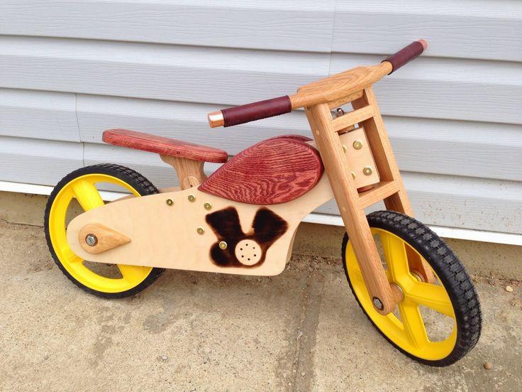 Wooden push bike.  http://makeperday.blogspot.com/2013/05/project-69-wooden-balance-bike.html