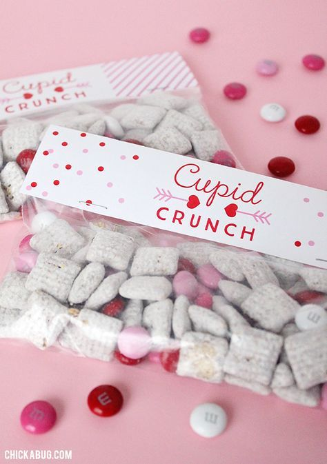 79e980edfc500cf5d7c1591c9b74fe11 - Free printable Cupid Crunch Valentine's Day labels. They make really adorable ...
