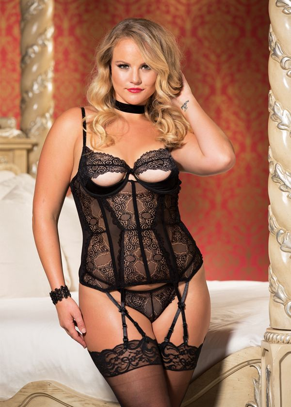 Sexy corset lingerie plus size