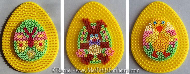 Easter eggs hama perler by Rachel - Mes Petits Bonheurs