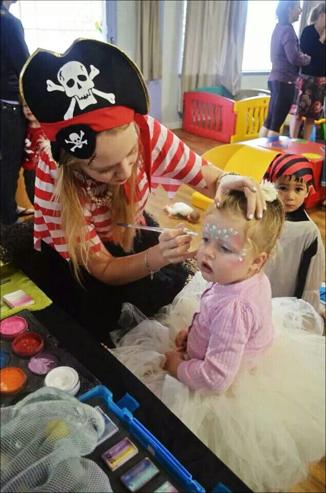 Pirate & princess party - painting the beautiful Miss Maggie xo