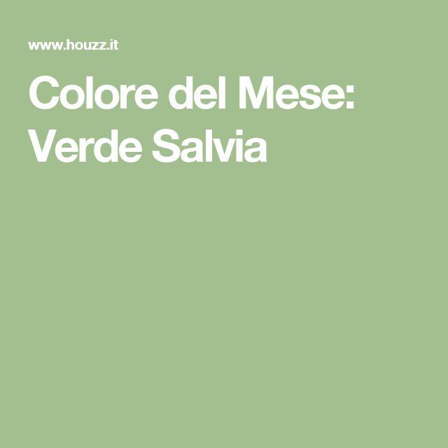 Colore del Mese: Verde Salvia