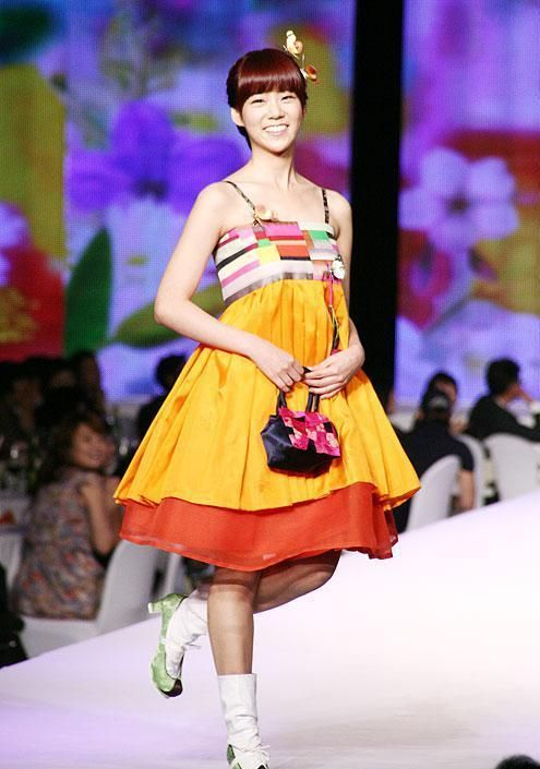 Colorful Hanbok-inspired dress