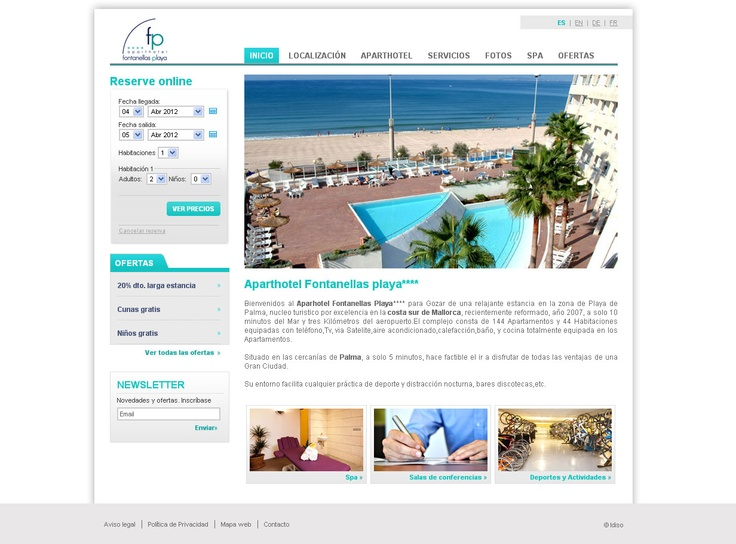 Aparthotel Fontanellas playa website by idiso www.hotelfontanellasplaya.com