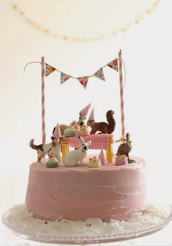 Marzipan Animal Friends Picnic | Girls Birthday Cake