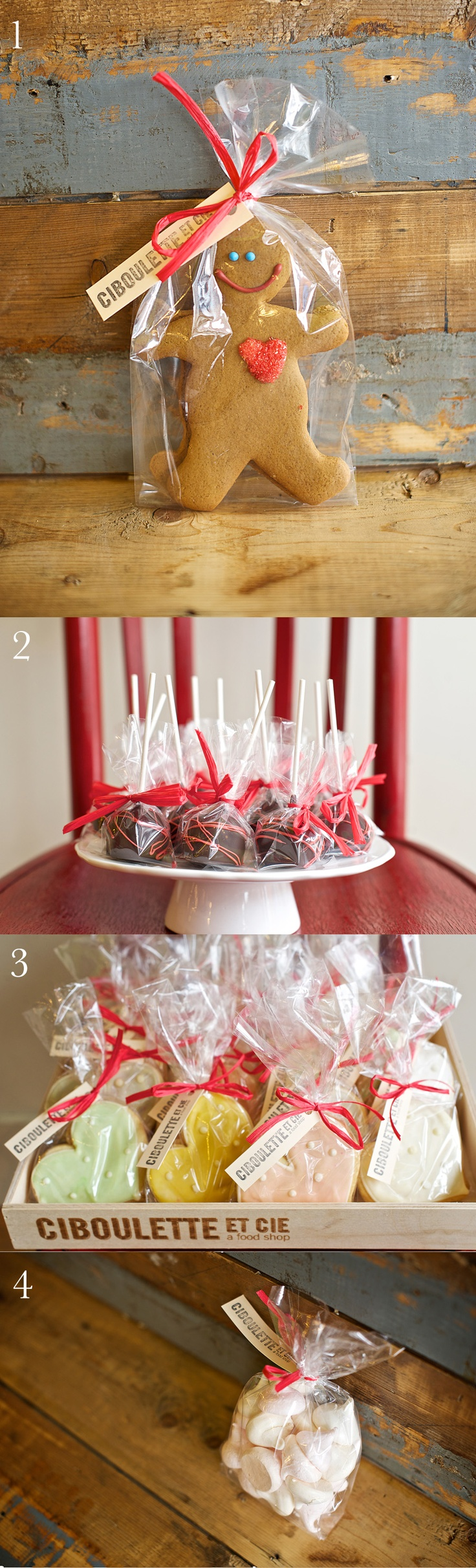 Sweets for the Sweet from Ciboulette et Cie in Midland Ontario. Gingerbread men, cake pops, handmade shortbread hearts, merangue kisses... happy Valentine's!