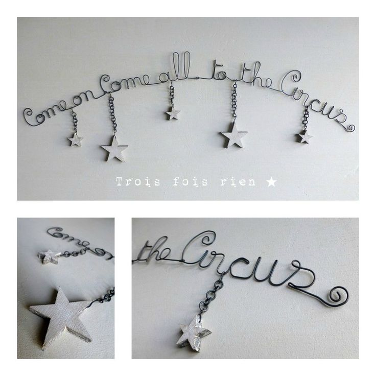 Guirlande fil de fer circus  Wire,Paper Mache.  Pinterest  Wire art ...