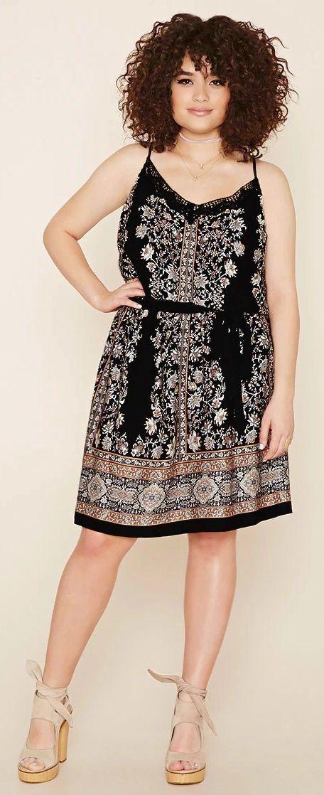 Plus Size Floral Cami Dress