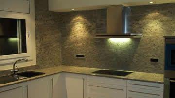 #cocinas Encimeras de granito para la cocina. Granito verde de importacion #madrid