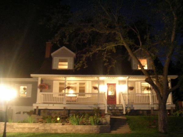 Our home at night