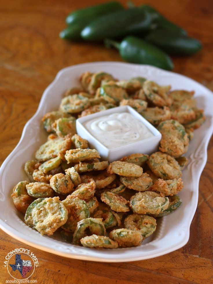 Fried jalapenos via A Cowboy's Wife. Just in time for NFL playoffs and all the requisite snacking.