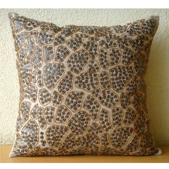 Leopard Spots  Throw Pillow Covers  20x20 Inches by TheHomeCentric