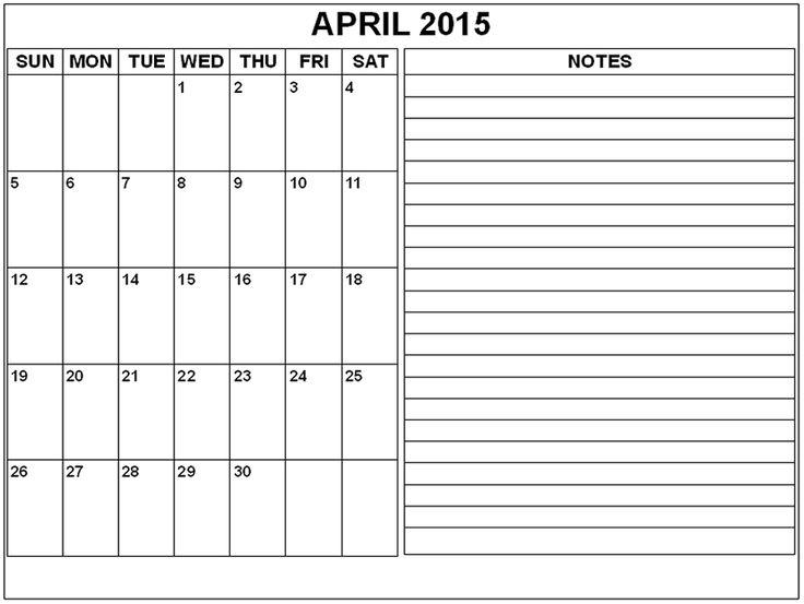11 Best April 2015 Calendar Images On Pinterest 2015 Calendar