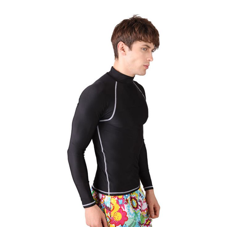 Large Size Thin Diving Scuba Wetsuit Top for Men Long Sleeve Anti-UV Rashguards Male Windsurf Clothing Swimsuit Pullover Tights