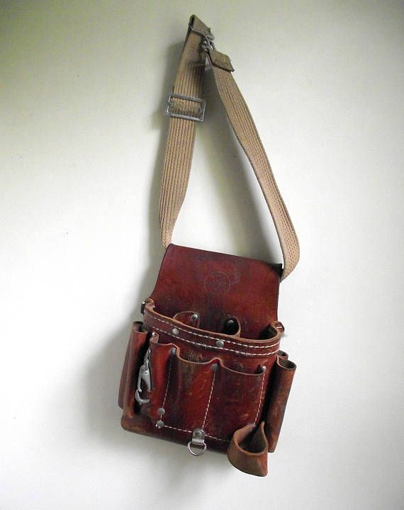 Klein Tool Pouch 5162T Tan Leather Tool Belt 8 Pocket Tool