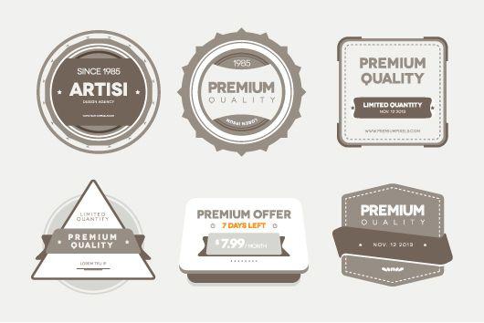 Free Premium Vector/PSD Badges