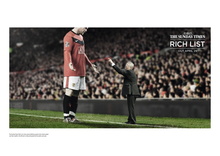 AWARD: CRISTAL / CATEGORY: MEDIA / CAMPAIGN: The Sunday Times Rich List campaign: Sport, Rolling Stones, Dragons Den / ADVERTISER: CHI & Partners / News International / AGENCY: CHI & Partners