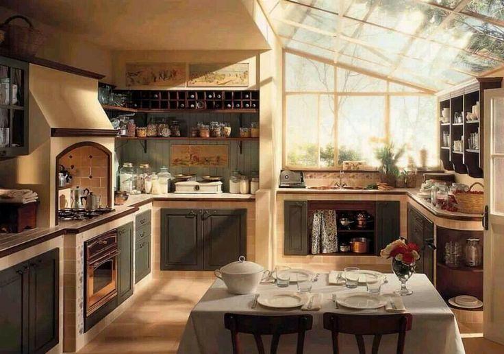 Rustic modern kitchen.