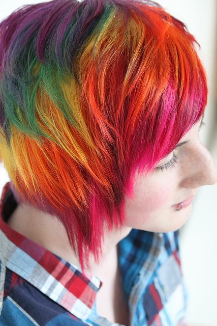 died hair styles 200 best images about rainbow hair collection on 4973