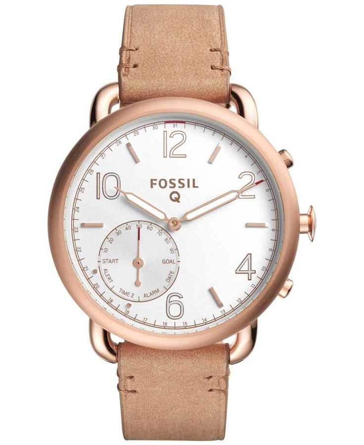 Fossil Q Women's Tailor Hybrid Light Brown Leather Strap Smart Watch 40MM FTW1129
