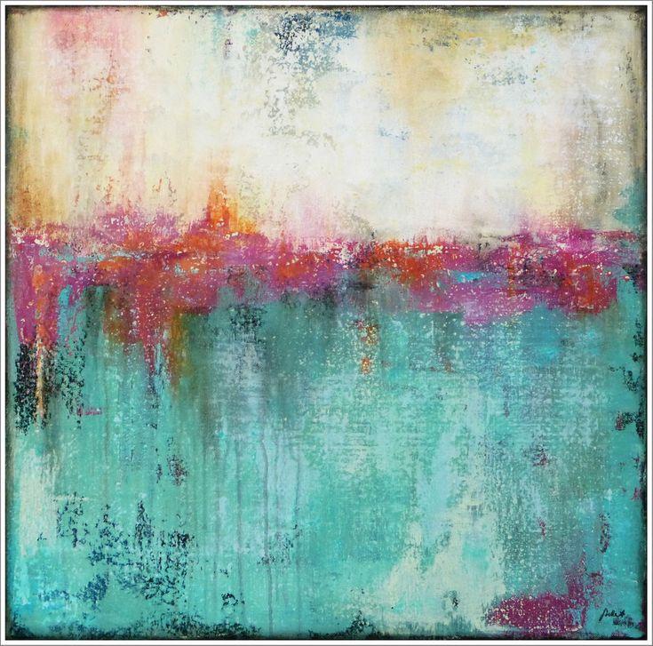 MALEREI abstrakt STELLA HETTNER Gemälde ORIGINAL Kunst Leinwand MALEREI Acryl NEU   – Art