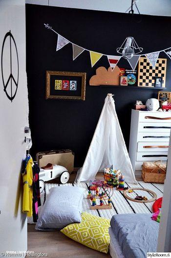 きっとこのテントの中に、宝物や色々な玩具を持ちこんで遊ぶのでしょう。 その心境が何となく理解できる分良いなあ…と憧れてしまう方も居るのではないでしょうか。  きっと子供たちも喜んでくれると思いますよ!