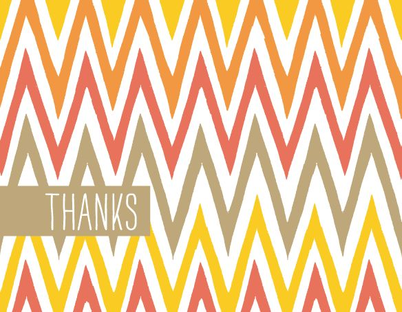 Free printable chevron folded note card