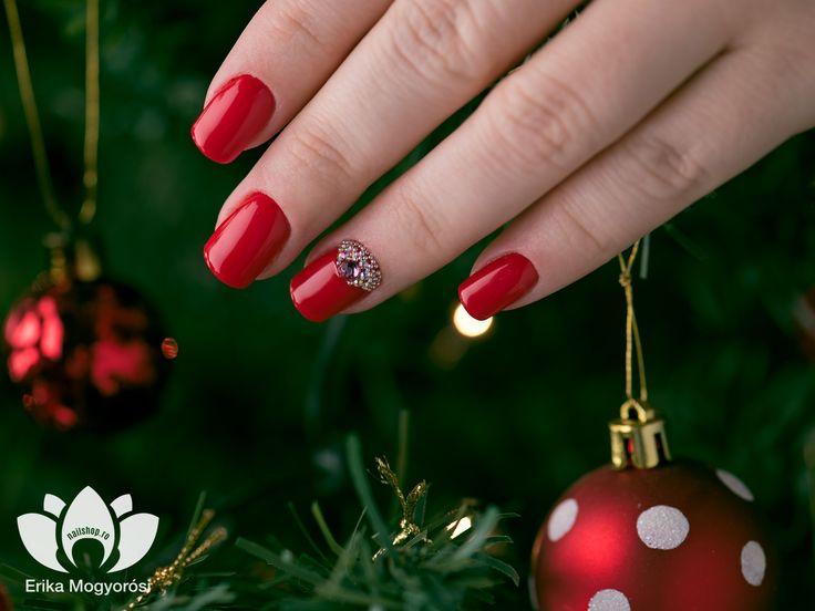 #red #nails #swarovski #love #fashion #art #2mbeauty #nailshop