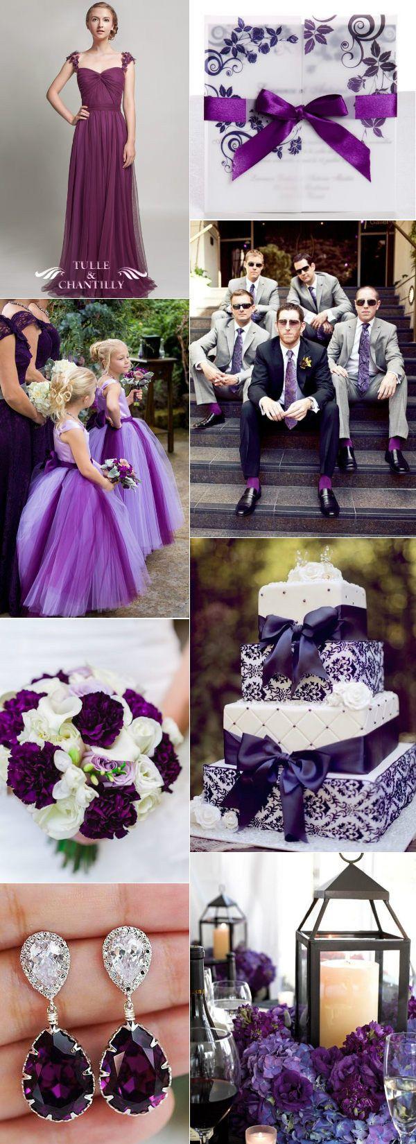 Elegant Plum Purple Wedding Ideas