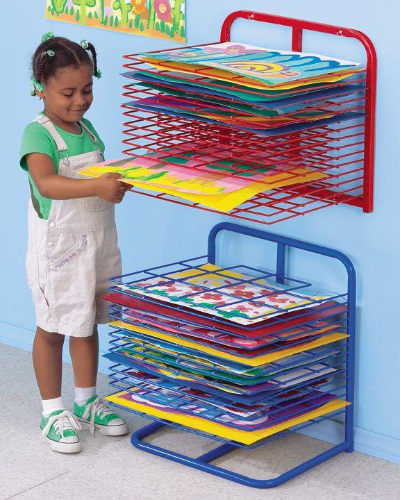 Lakeshore Wall-Mounted Drying Rack  #LakeshoreDreamClassroom